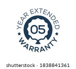 5 years warranty images  5 year ... | Shutterstock .eps vector #1838841361