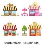 shops   cute bakery  coffee ... | Shutterstock .eps vector #183884435