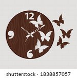 clock vector design and wall...   Shutterstock .eps vector #1838857057