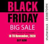 banner black friday big sale   Shutterstock .eps vector #1838870494