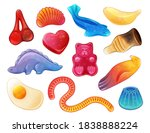 set of different jelly sweets... | Shutterstock .eps vector #1838888224