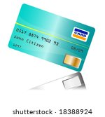 creditcard with reflection... | Shutterstock .eps vector #18388924