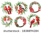 Merry Christmas  Set Of Festiv...