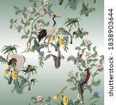 seamless pattern in chinoiserie ... | Shutterstock .eps vector #1838903644