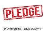 pledge grunge rubber stamp on... | Shutterstock .eps vector #1838906947