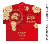 new year money red envelope ang ... | Shutterstock .eps vector #1838912344