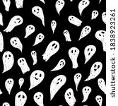 seamless vector halloween...   Shutterstock .eps vector #1838923261