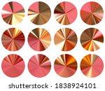 pink gold circular metallic...