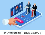isometric online voting and... | Shutterstock .eps vector #1838933977