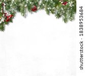 festive border with fir... | Shutterstock . vector #1838953684