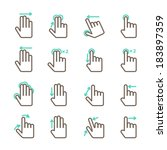 touch screen hand gestures... | Shutterstock .eps vector #183897359