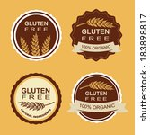 gluten free and wheat labels.... | Shutterstock .eps vector #183898817
