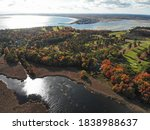 Aerial View Of Colorful Autumn...