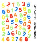 colorful numbers  isolated on... | Shutterstock . vector #183899234
