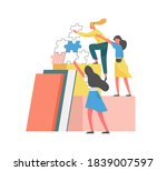 concept of mutual partnership...   Shutterstock .eps vector #1839007597