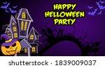 happy halloween event flat... | Shutterstock . vector #1839009037