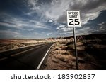 Speed Limit Sign In National...