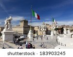 rome   may 9  tourists at...   Shutterstock . vector #183903245