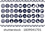 bundle of forty mexican... | Shutterstock .eps vector #1839041701