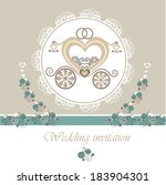 wedding invitation card with...   Shutterstock .eps vector #183904301