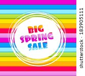 spring sale abstract banner on...