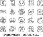 travel bubble line icon set.... | Shutterstock .eps vector #1839075667
