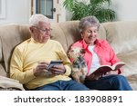 a retired couple relaxing is... | Shutterstock . vector #183908891