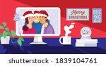 online christmas celebration ... | Shutterstock .eps vector #1839104761