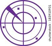 radar simple vector   Shutterstock .eps vector #183910931