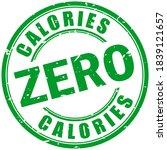 zero calories rubber stamp...   Shutterstock .eps vector #1839121657