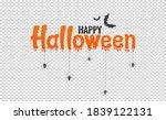 orange happy halloween text...   Shutterstock .eps vector #1839122131