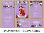 wedding invite  menu  rsvp ...   Shutterstock .eps vector #1839146887