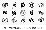 set of versus logo letters.... | Shutterstock .eps vector #1839155884