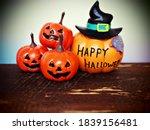 happy halloween orange pumpkin... | Shutterstock . vector #1839156481