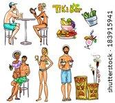 chat,coctel,pareja,crucero,dibujado,beber,exóticas,mano,feliz,en,invitación,de,sexy,tomar el sol,filtro solar