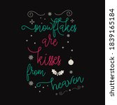 christmas lettering quote.... | Shutterstock .eps vector #1839165184