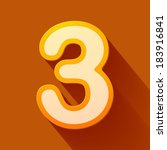 volume icons number  three.... | Shutterstock .eps vector #183916841