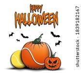 happy halloween. template... | Shutterstock .eps vector #1839182167