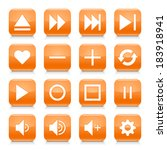 16 media control icon set 06.... | Shutterstock .eps vector #183918941