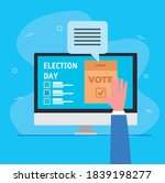 elections day vote box with...   Shutterstock .eps vector #1839198277
