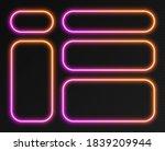 neon gradient frames set ... | Shutterstock .eps vector #1839209944