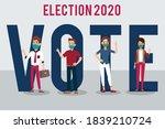 men and women activists are...   Shutterstock .eps vector #1839210724