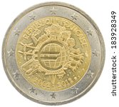 french 2 euro coin isolated on...