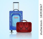 vector travel suitcase on... | Shutterstock .eps vector #183928367