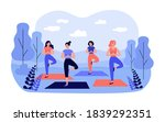 happy women in sportswear on... | Shutterstock .eps vector #1839292351