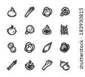 vegetables icons. professional... | Shutterstock .eps vector #183930815