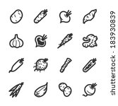 vegetables icons. professional... | Shutterstock .eps vector #183930839