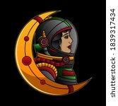 astronaut traditional tattoo ... | Shutterstock .eps vector #1839317434