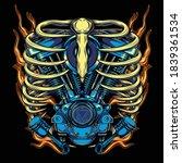 Twin Motor Engines Illustration ...
