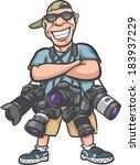vector illustration of funny... | Shutterstock .eps vector #183937229